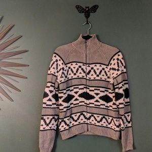 Ralph Lauren print zip-up sweater